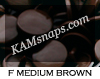 F Medium Brown is a deep brown, ever so slightly lighter than B6 Dark Brown.