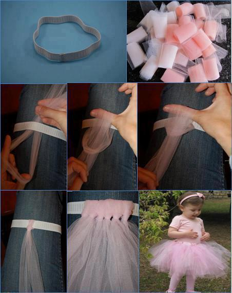 How to Make a Tutu with an Elastic Band and Rolls of Tulle